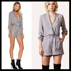 greylin // ria wrap over shirt romper playsuit